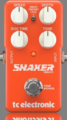 SHAKER VIBRATO P0DDM Top B - TC Electronic Shaker Vibrato Effects Pedal