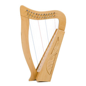 01105B 300x300 - Baby Harp - 12 String Carved with Bag